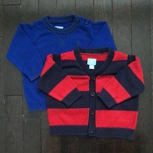 The Children's Place- 2 Sweater Bundle 6-9 Months